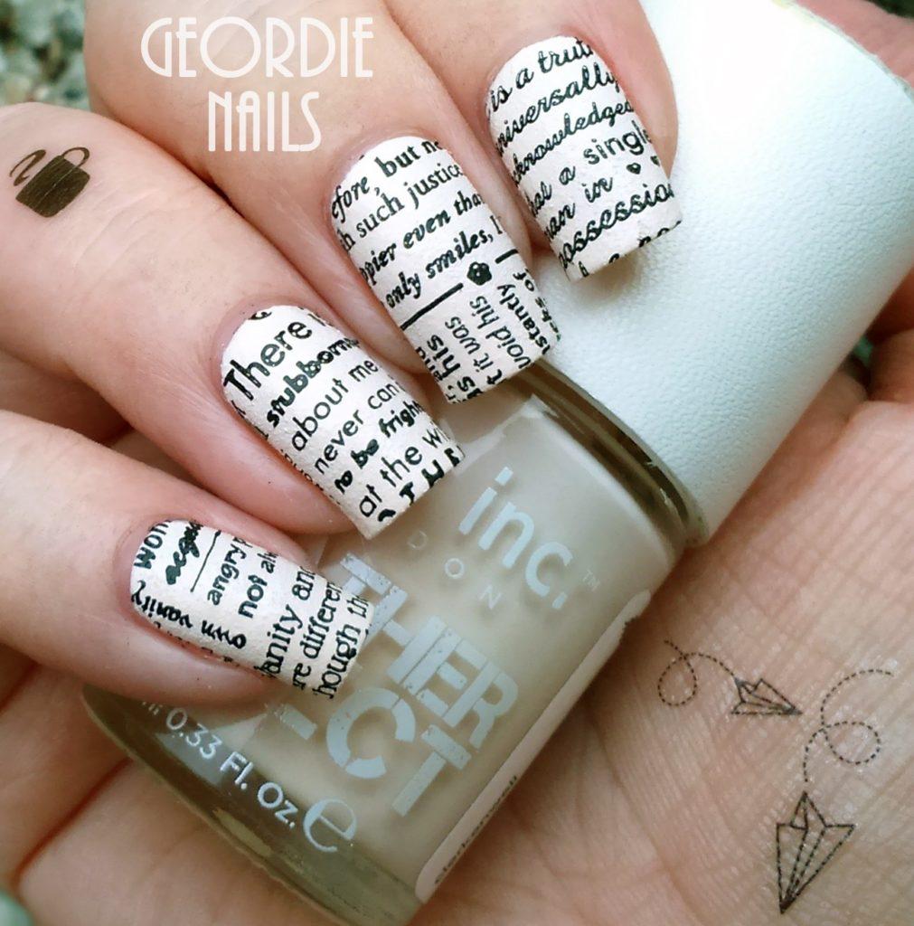 """""""Газетный"""" дизайн ногтей"""